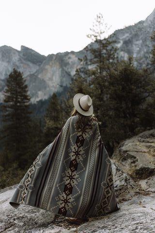 The Parks Explorer Wraparound Blanket // Mountain Granite Edition - The Parks Apparel