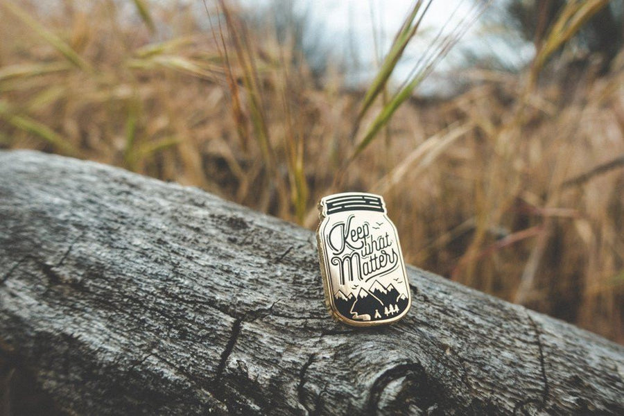 Keep What Matters Pin - Wondery, A Parks Apparel Brand