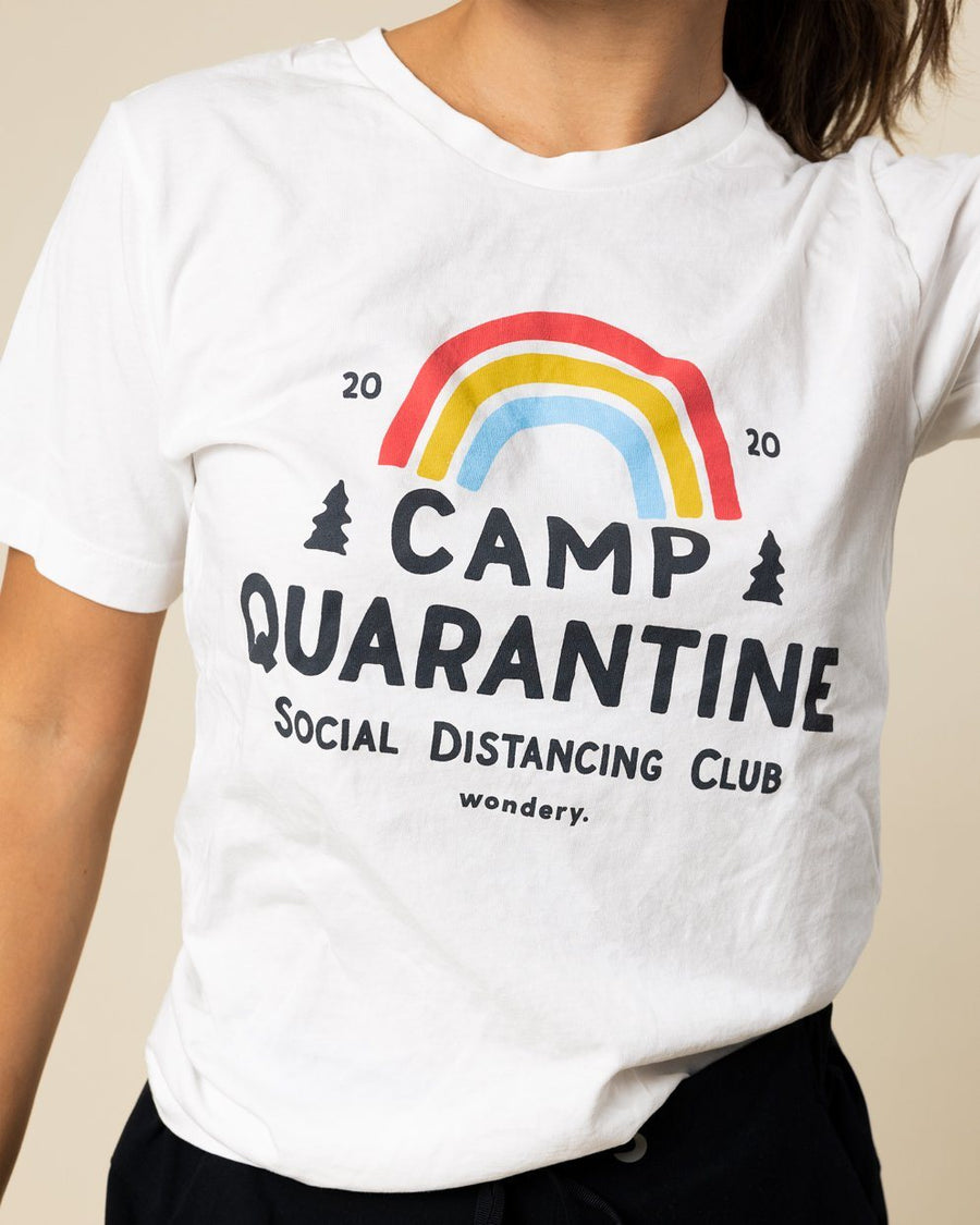 Limited Edition Camp Quarantine Social Distancing Tee - Wondery, A Parks Apparel Brand