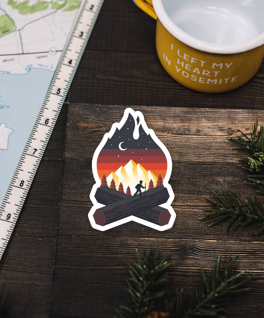 Campfire Sticker - Wondery, A Parks Apparel Brand