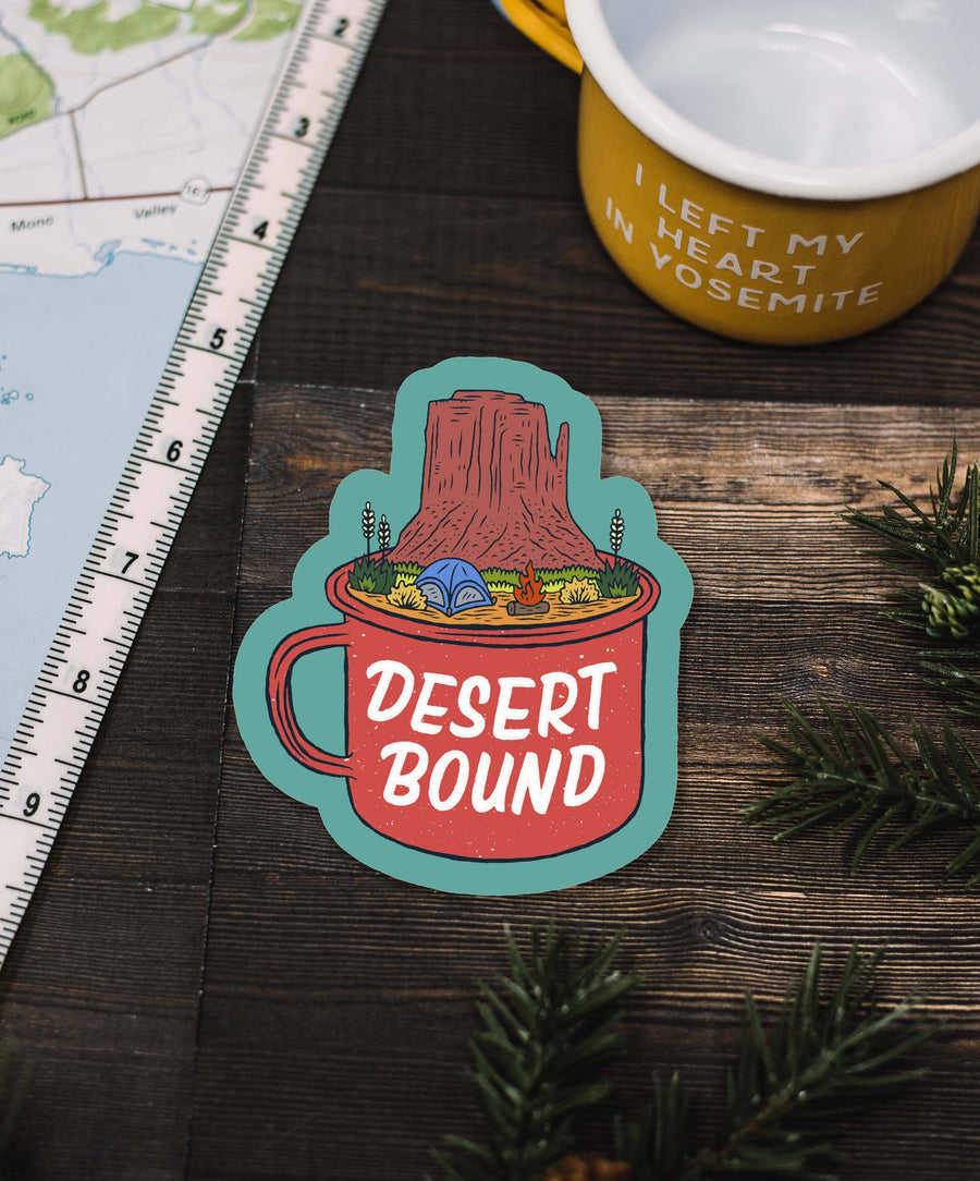 Camp Cup Desert Bound Sticker - Wondery, A Parks Apparel Brand
