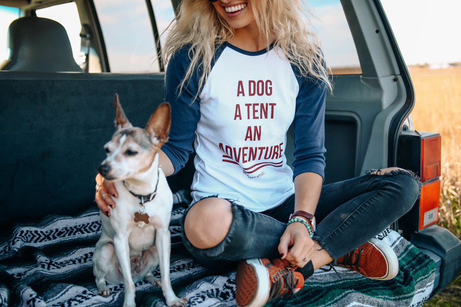 Dog Adventure Women's Raglan - Wondery, A Parks Apparel Brand