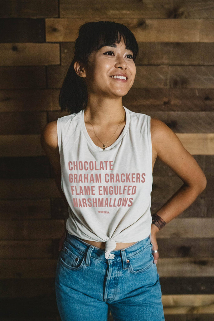 Perfect S'mores Flowy Muscle Tank - Wondery