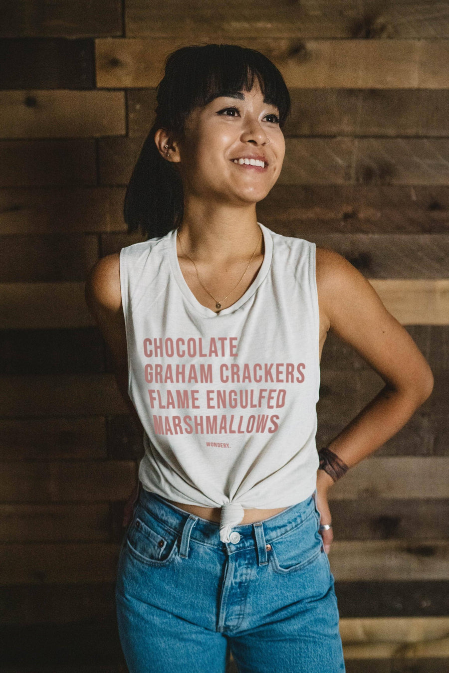 Perfect S'mores Flowy Muscle Tank - Wondery, A Parks Apparel Brand