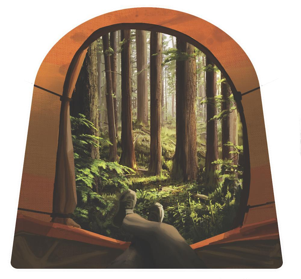 Tent View Sticker - The Parks Apparel