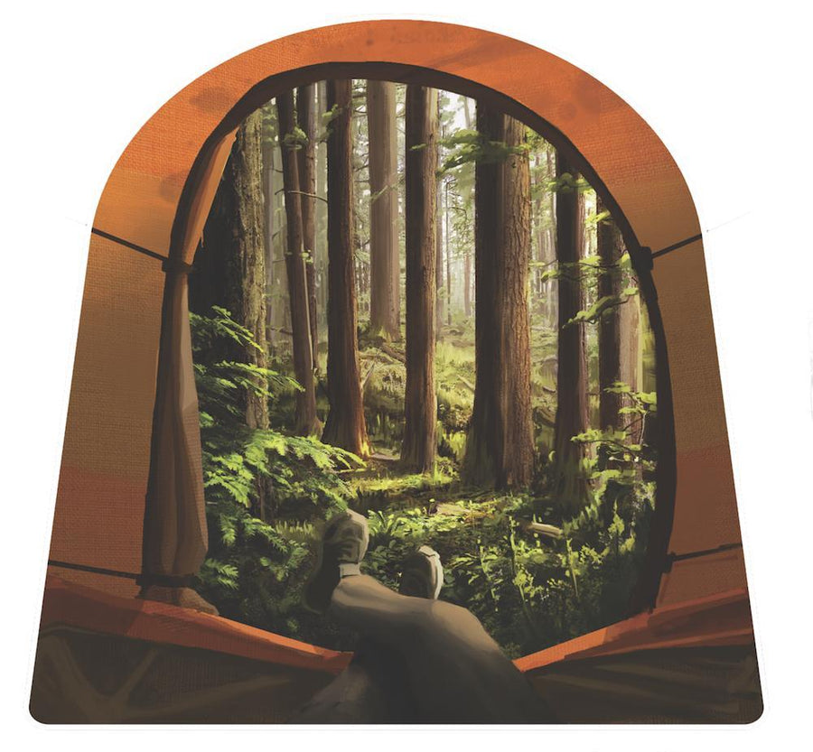 Tent View Sticker - Wondery, A Parks Apparel Brand