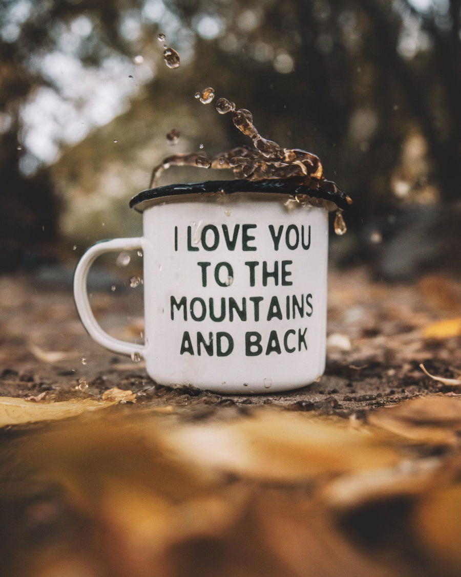 Mountain Lovin' Enamel Camp Mug