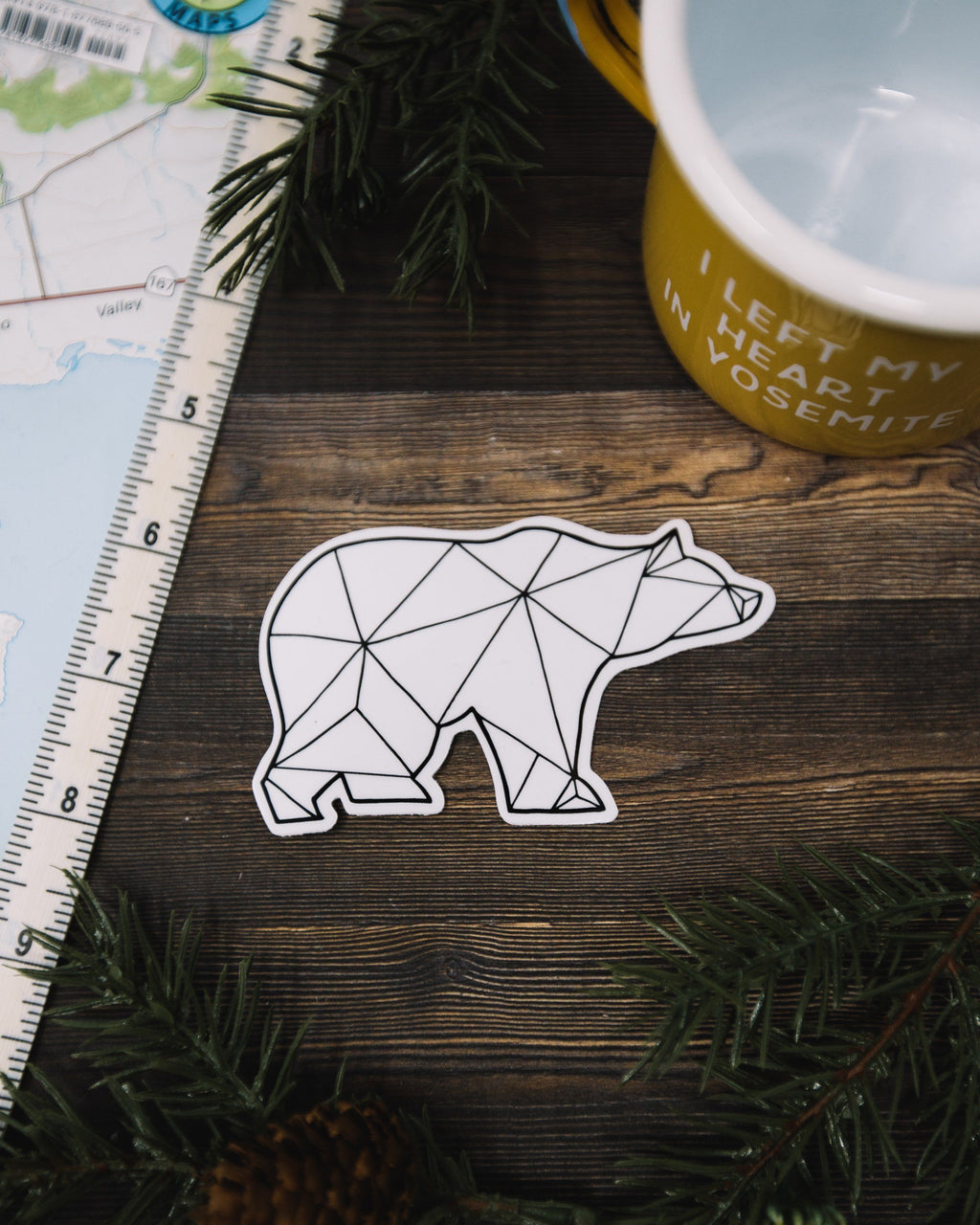 Geo Bear Vinyl Sticker - The Parks Apparel