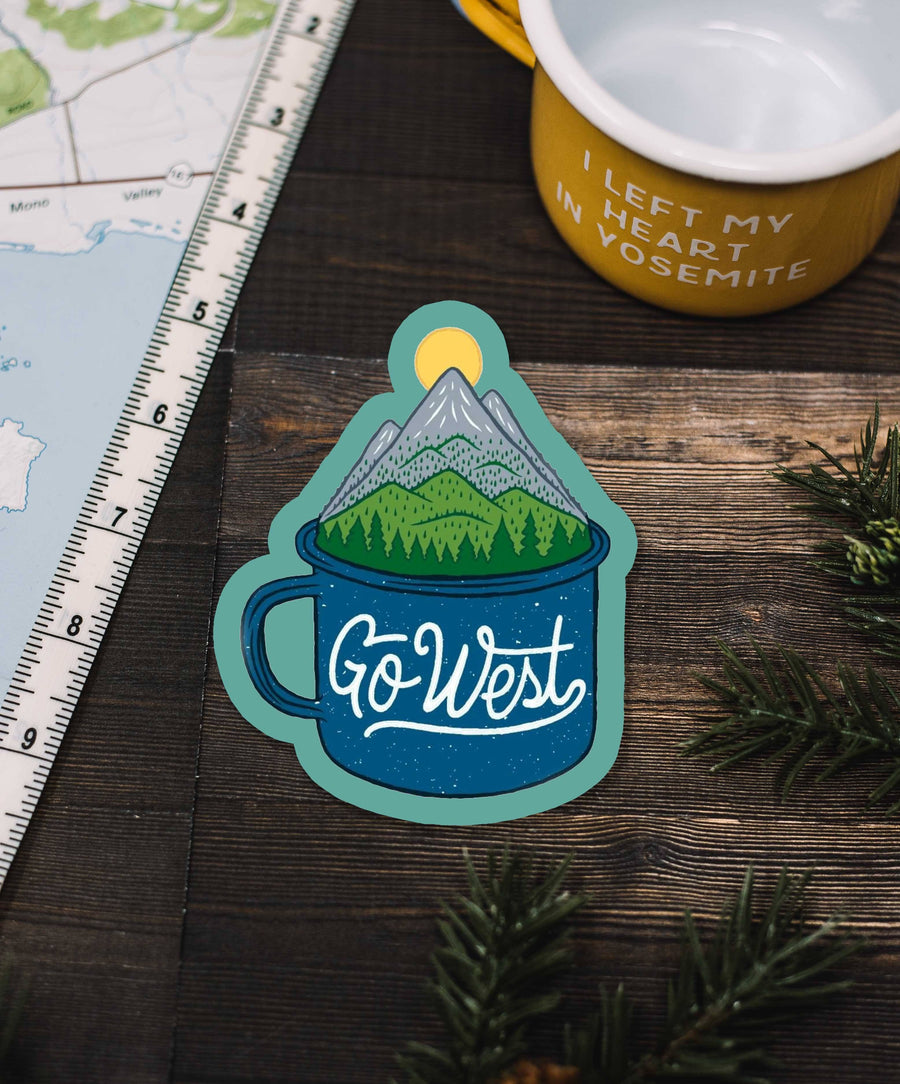 Camp Cup Go West Sticker - Wondery, A Parks Apparel Brand