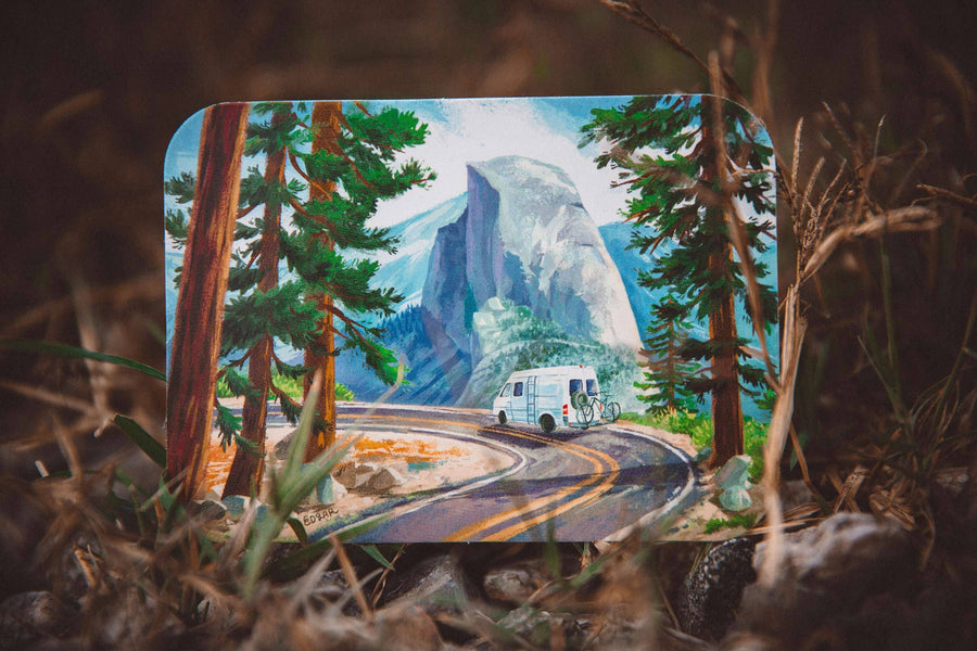 Half Dome Yosemite Sticker - Wondery, A Parks Apparel Brand
