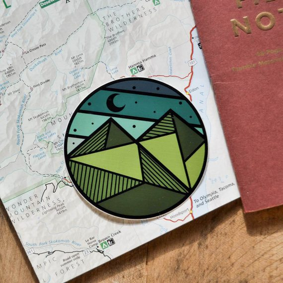 Geo-Circle Sticker - The Parks Apparel - 2