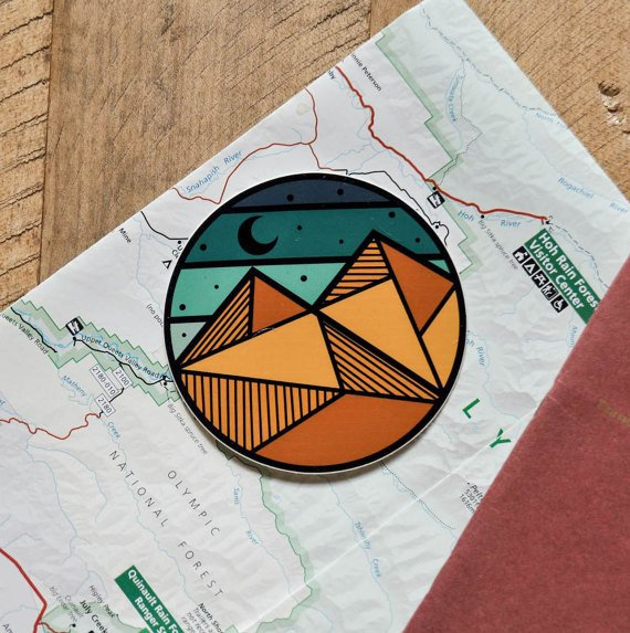 Geo-Circle Sticker - The Parks Apparel - 3