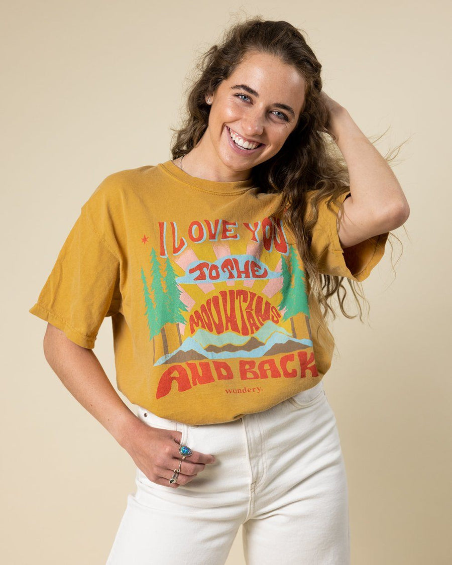 I Love You To The Mountains and Back Tee - Wondery, A Parks Apparel Brand