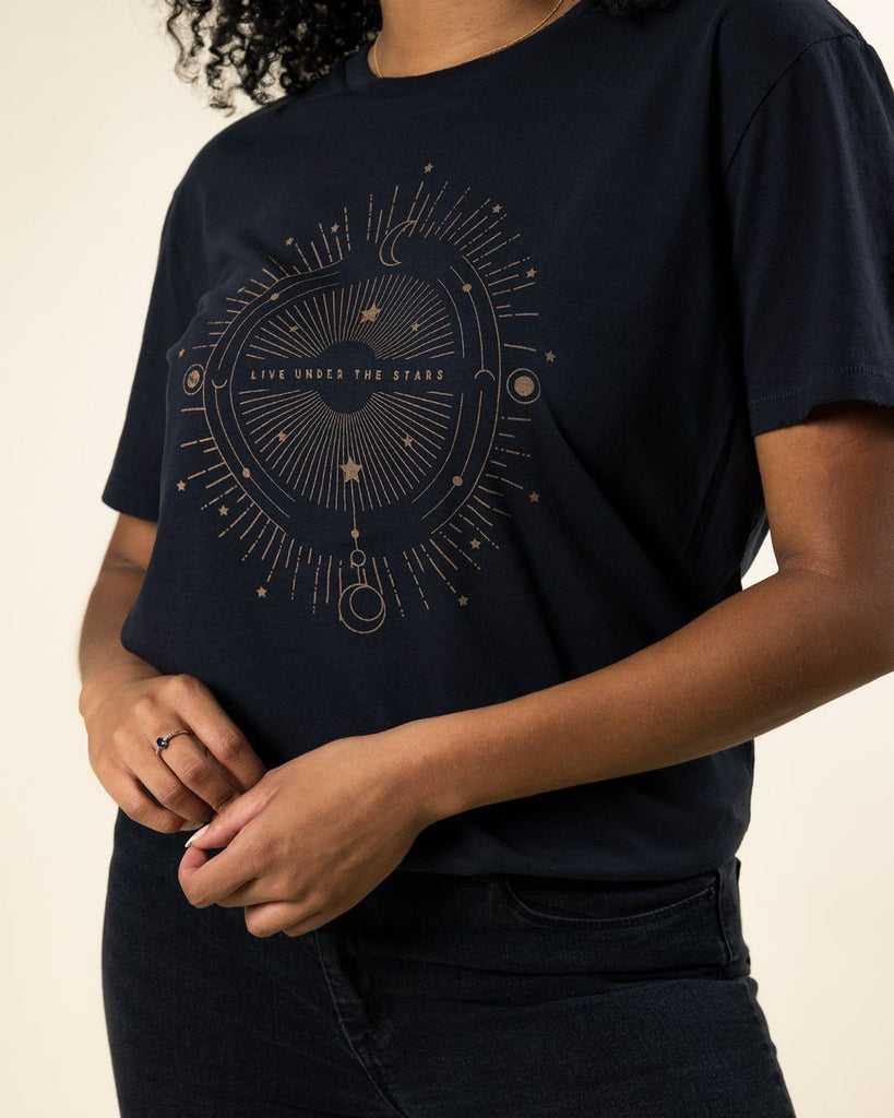 Live Under The Stars Distressed Tee - Wondery