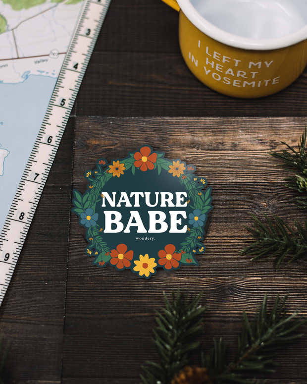 Floral Nature Babe Sticker 1