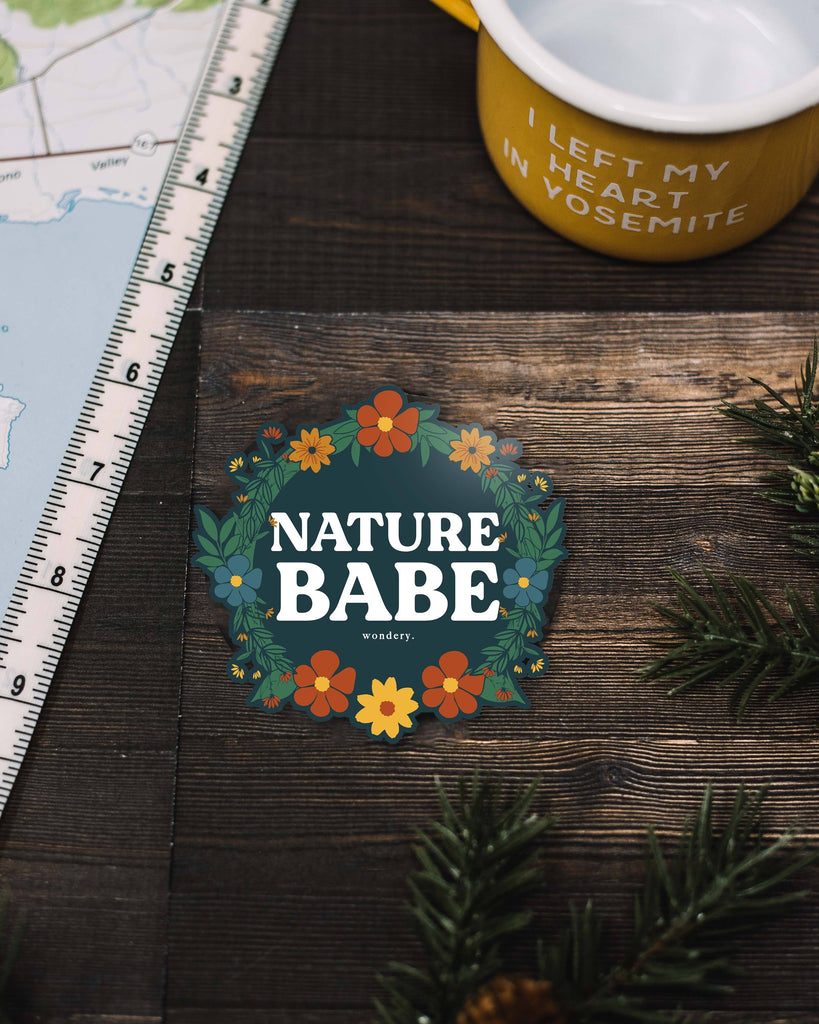 Floral Nature Babe Sticker - Wondery