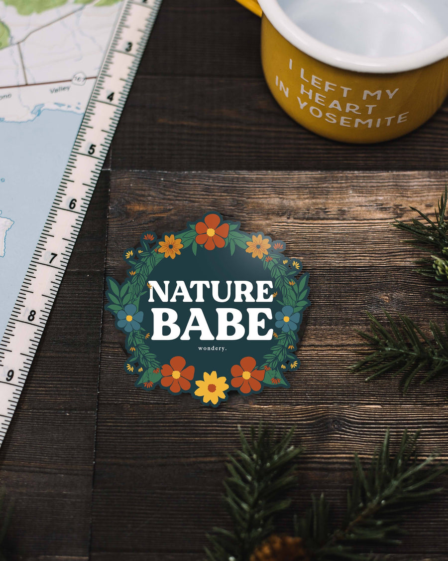 Floral Nature Babe Sticker - Wondery, A Parks Apparel Brand