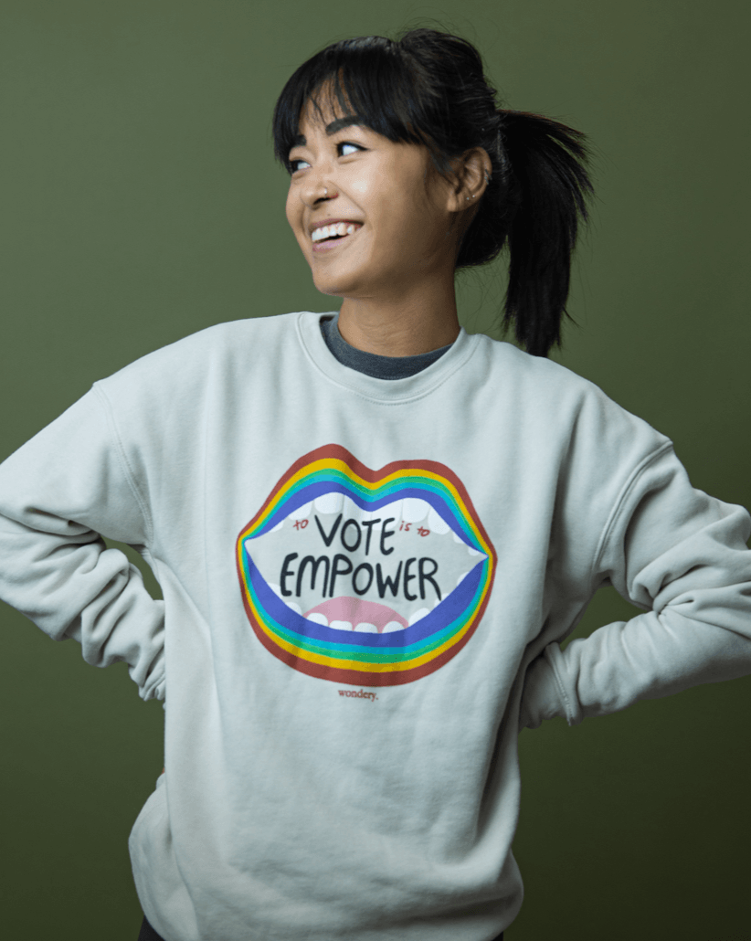 Vote To Empower Crewneck - Wondery, A Parks Apparel Brand