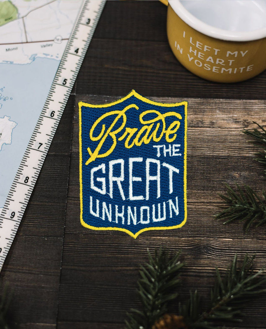 Brave The Great Unknown Patch - Wondery, A Parks Apparel Brand