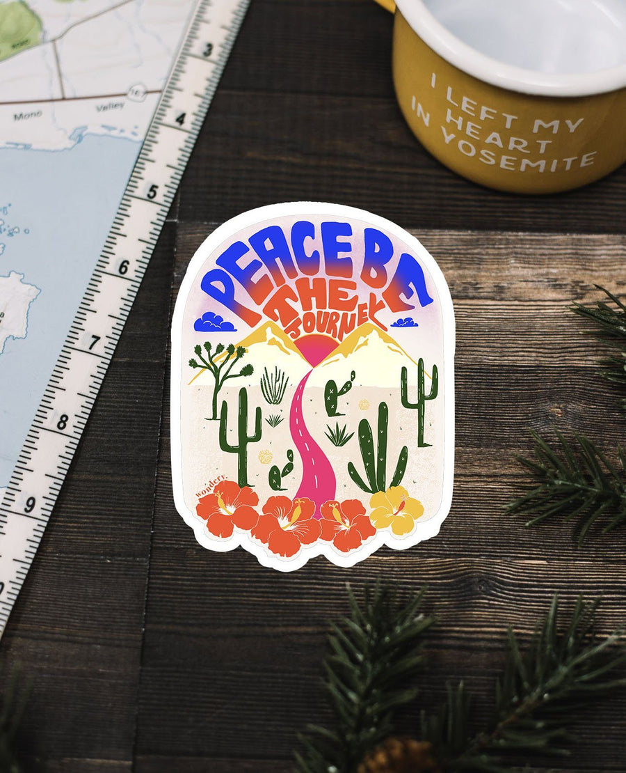 Peace Be the Journey Sticker - Wondery, A Parks Apparel Brand