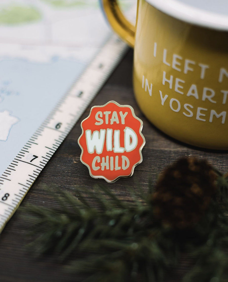 Stay Wild Child Pin - Wondery, A Parks Apparel Brand