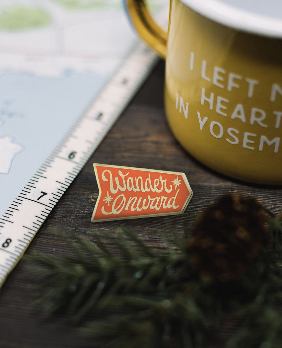 Wander Onward Pin - Wondery, A Parks Apparel Brand