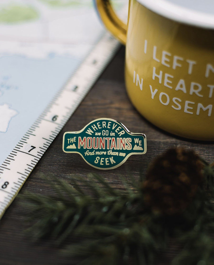Wherever We Go Pin - Wondery, A Parks Apparel Brand