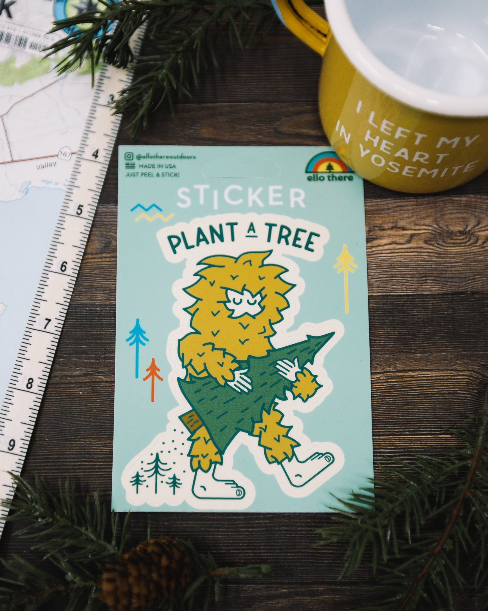Plant a Tree Sasquatch Sticker - The Parks Apparel
