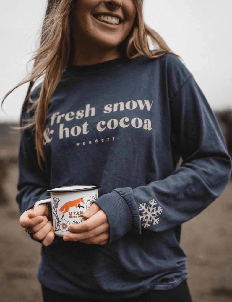 Fresh Snow & Hot Cocoa Long Sleeve - Wondery