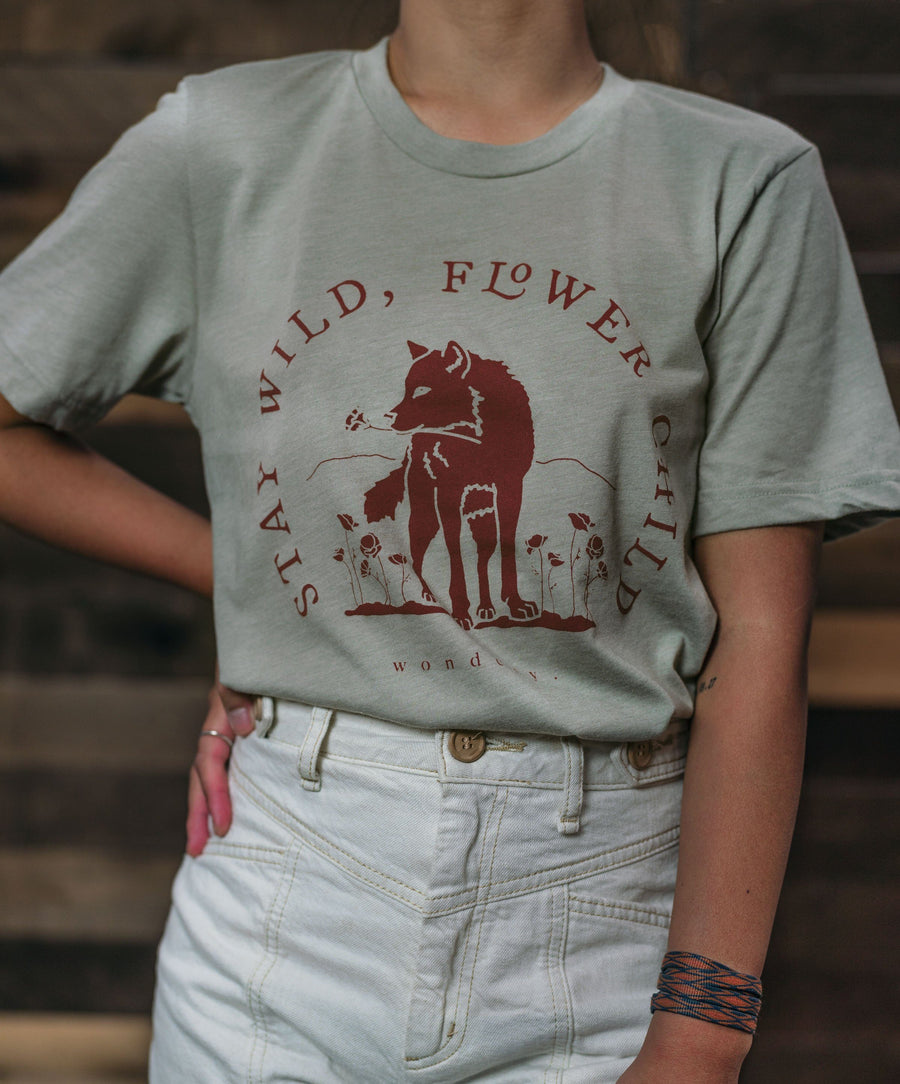 Stay Wild Flower Child Tee - Wondery, A Parks Apparel Brand