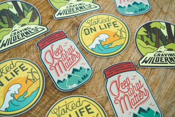 Adventure Sticker Set #4 (3 Set) - Wondery, A Parks Apparel Brand