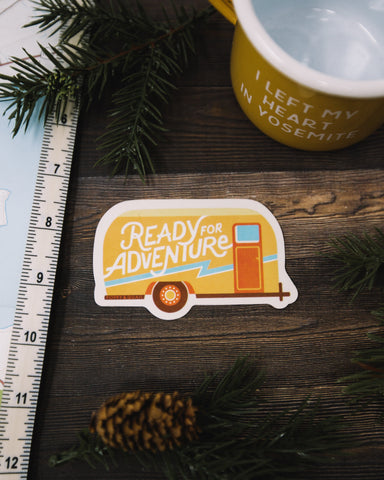 Ready For Adventure Sticker - The Parks Apparel
