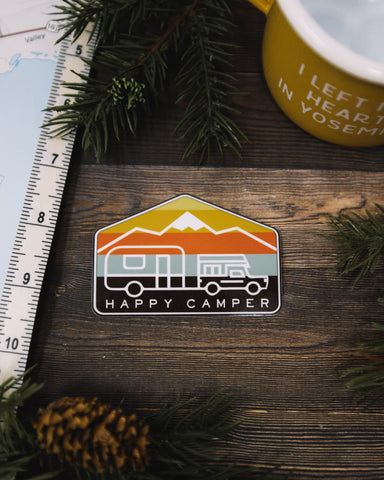 Happy Camper Sticker - The Parks Apparel