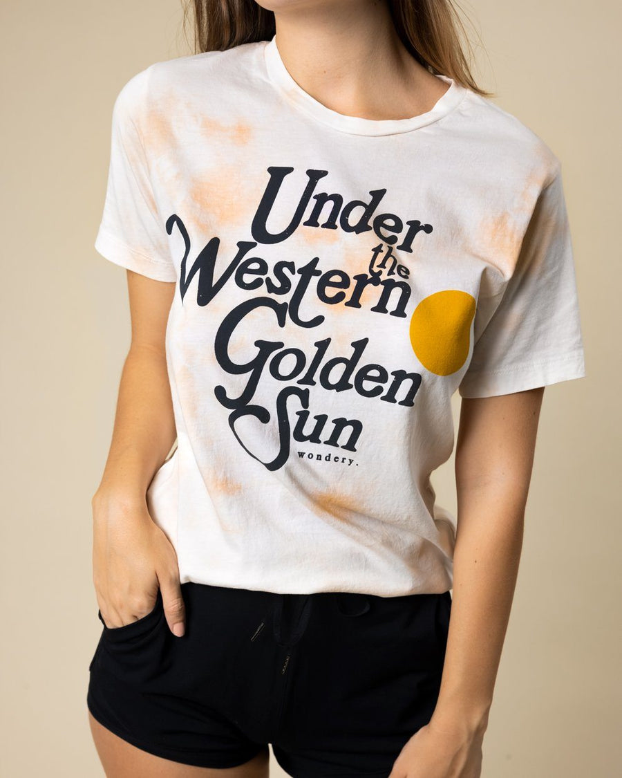 Under The Western Golden Sun Tie Dye Tee - Wondery, A Parks Apparel Brand