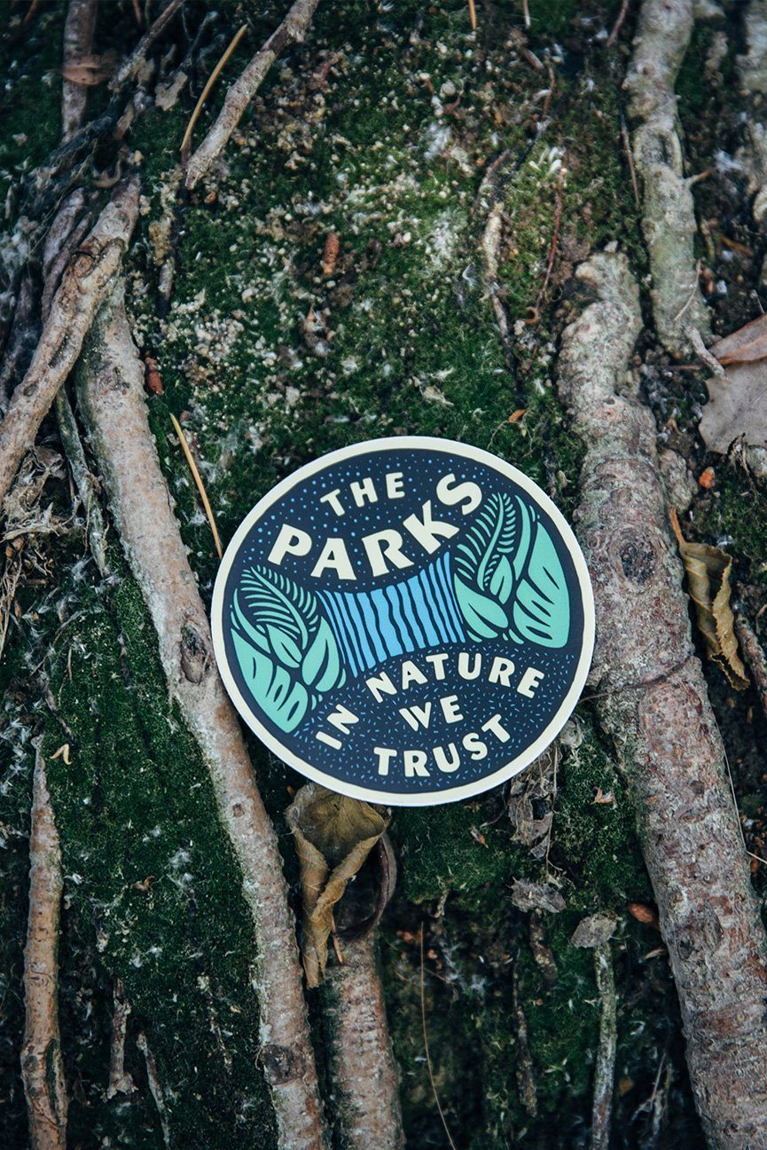 The Parks Tropical Waterfall Sticker