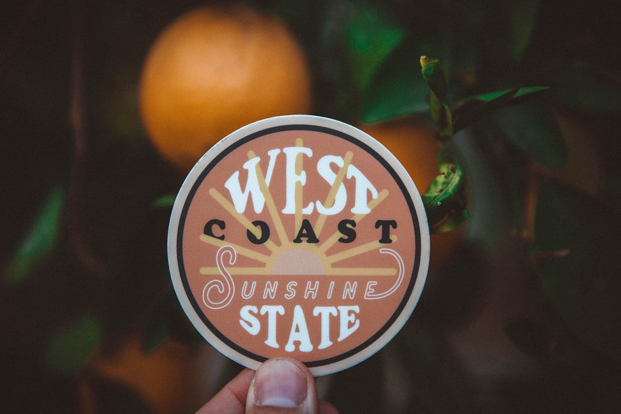 West Coast Sticker - Wondery, A Parks Apparel Brand
