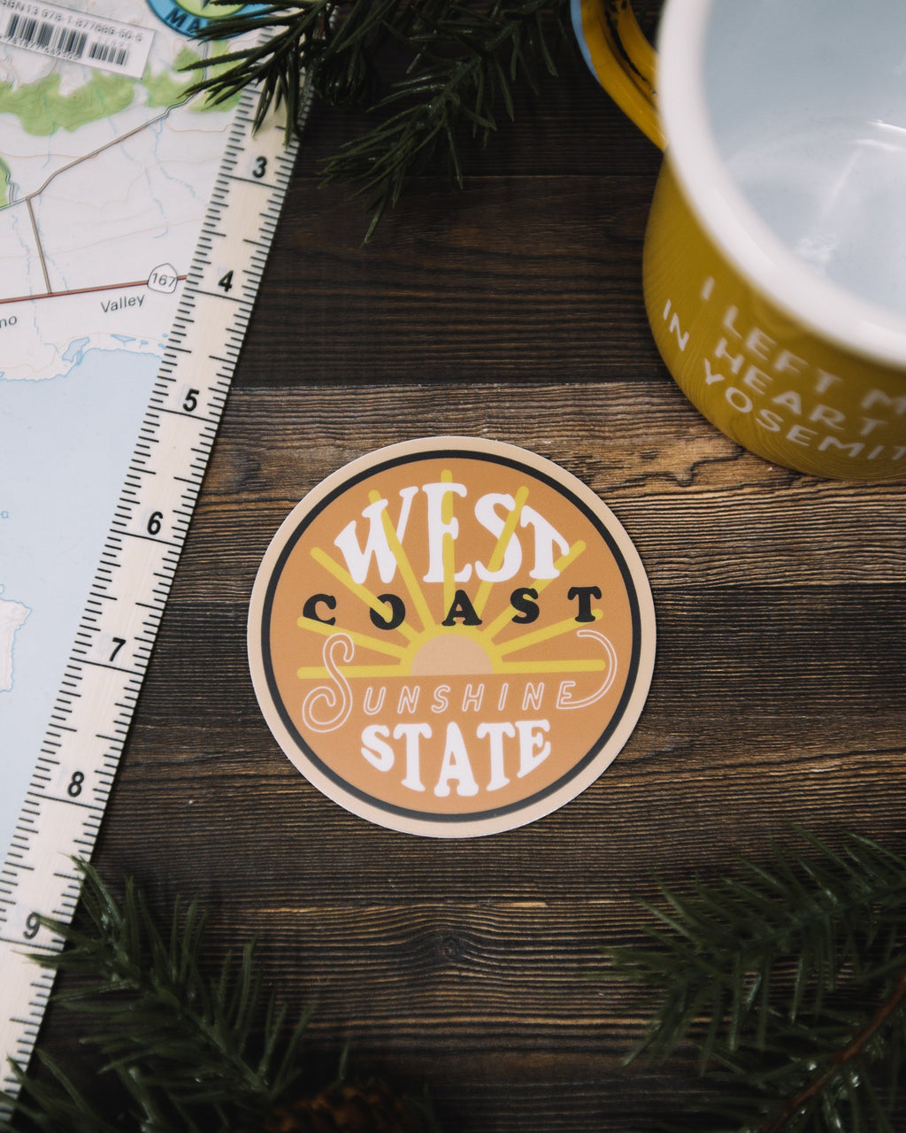 The Parks Regions: West Coast Sticker - The Parks Apparel