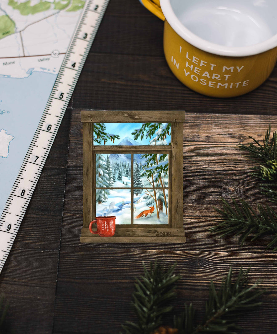 Wilderness Through a Window Sticker - Wondery