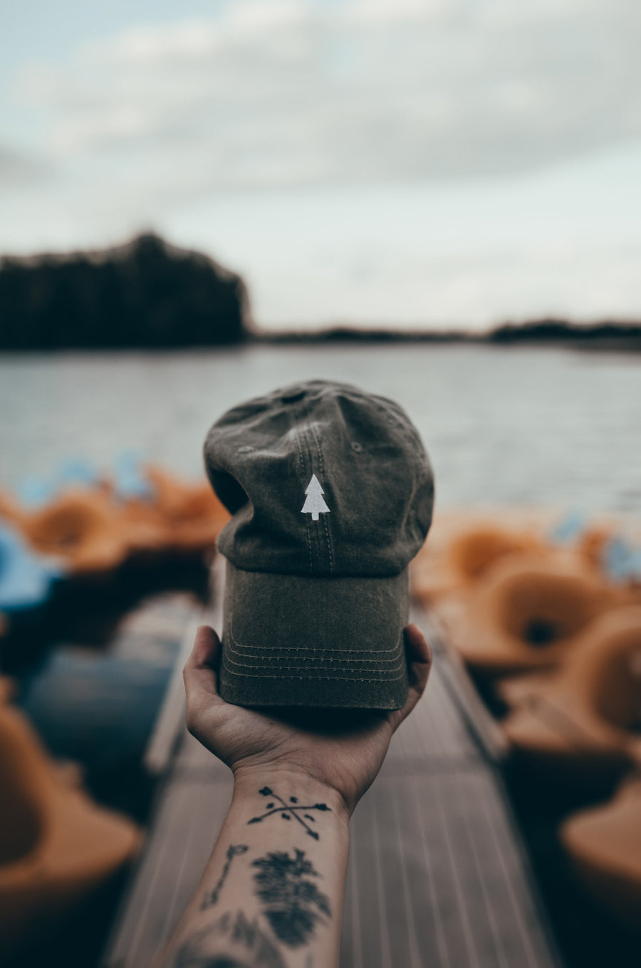Pine Tree Dad Hat - Wondery, A Parks Apparel Brand