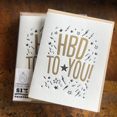HBD black/gold card