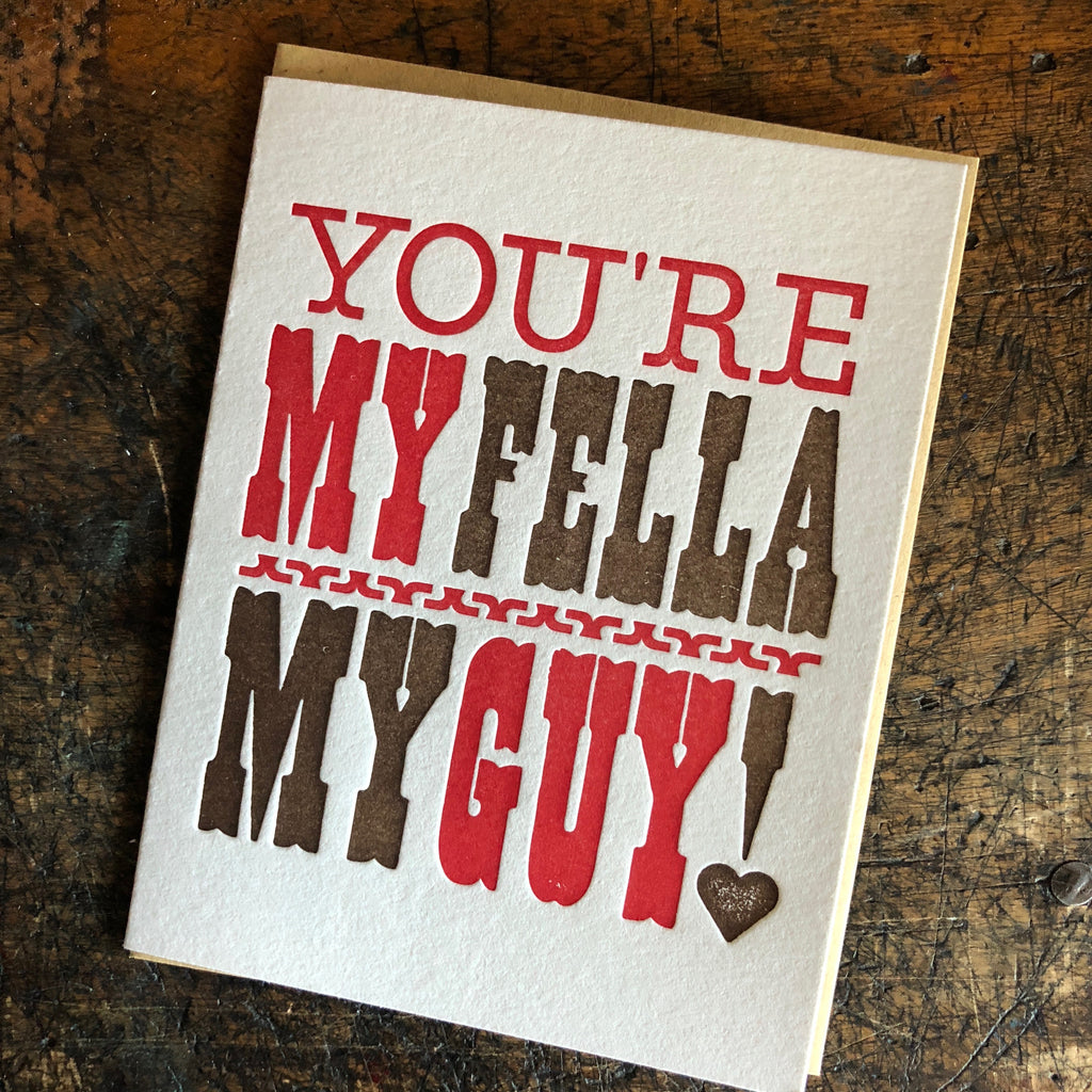 You're My Fella Card