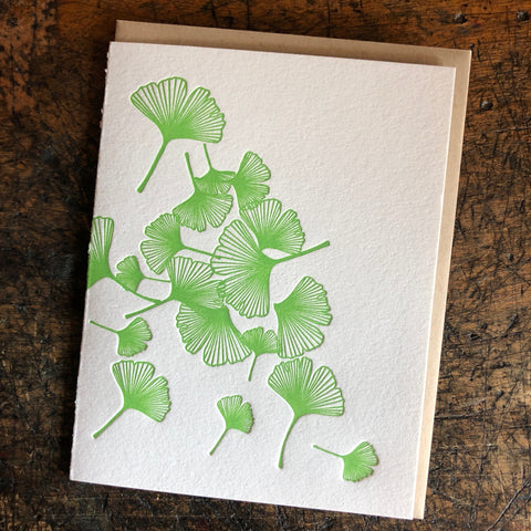 Gingko leaves card