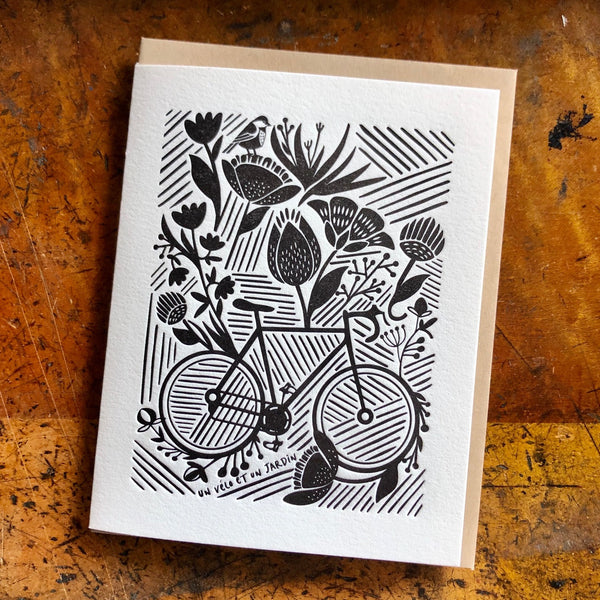 Bike in Garden Card