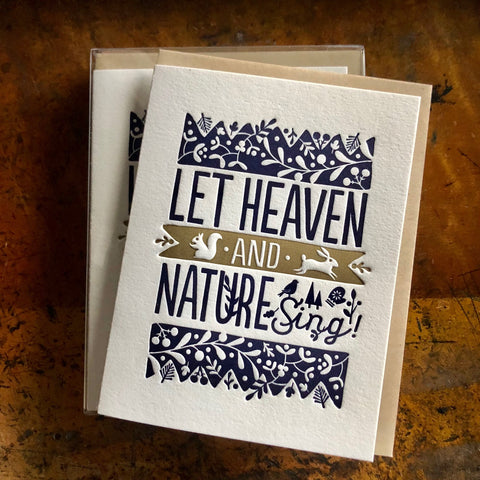 Heaven And Nature Card-Navy and Gold