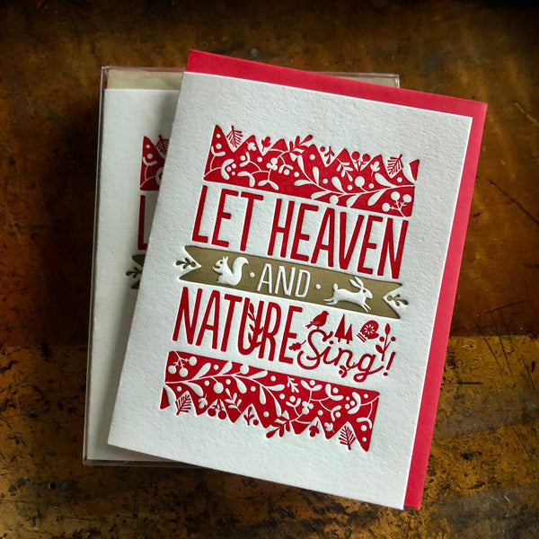 Heaven And Nature Card-Red and Gold