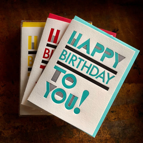 Happy Birthday Typographic