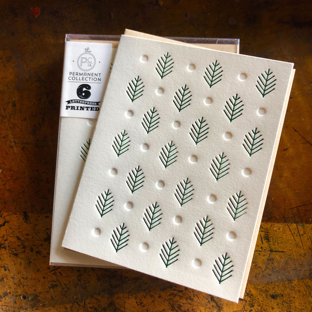 Conifer Forest in the Snow card