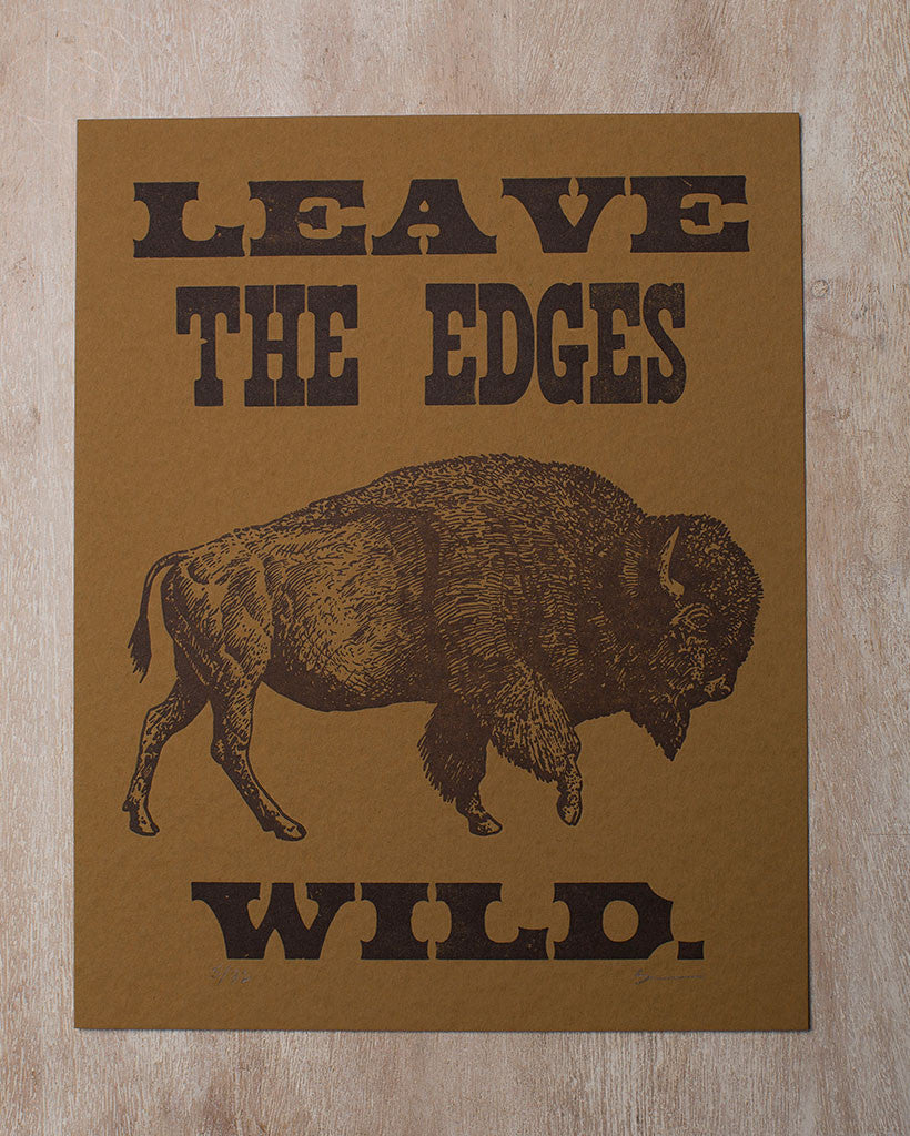 The permanent collection letterpress leaves edges wild print
