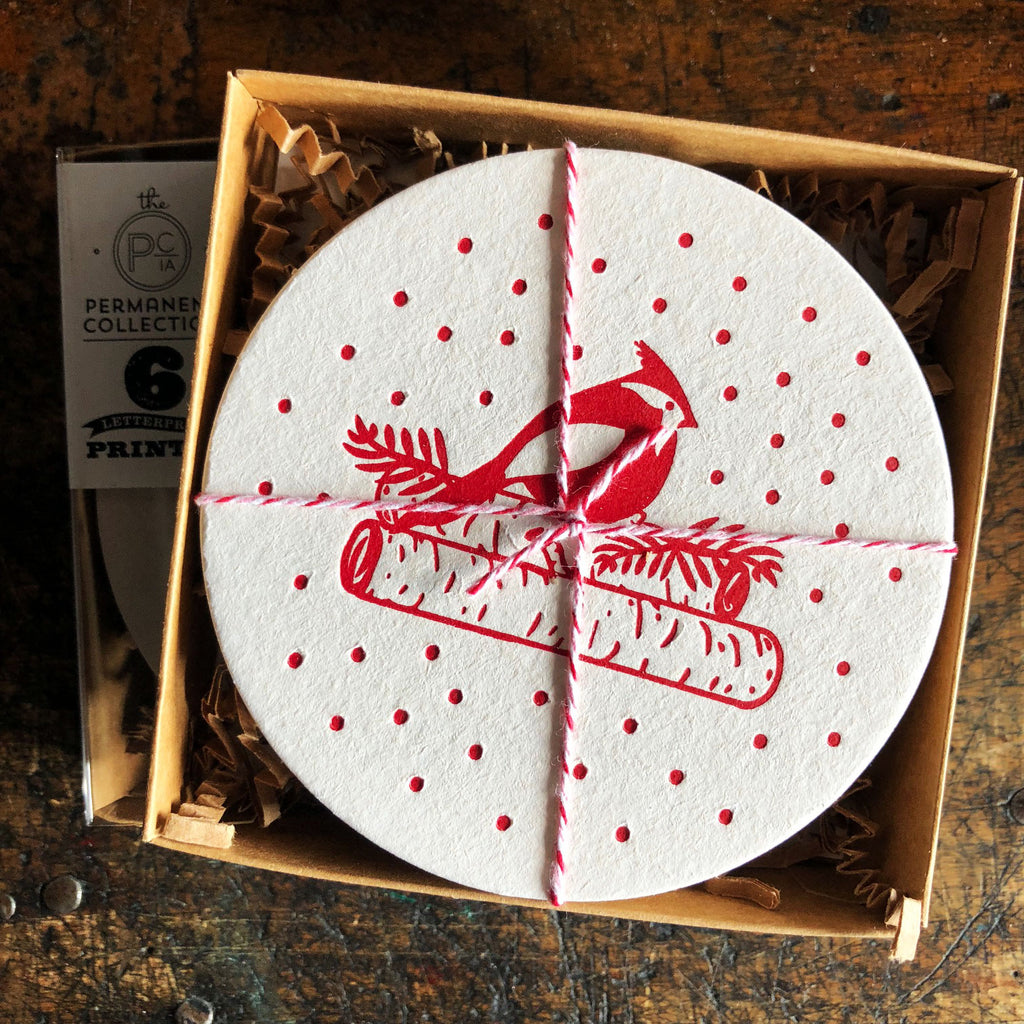 Cardinal Holiday Coaster Set of Six