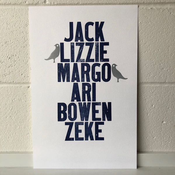 Custom Family Name 11x17 Print